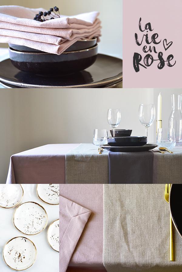 On adore le lin – Vieux rose intérieur tendance 2018